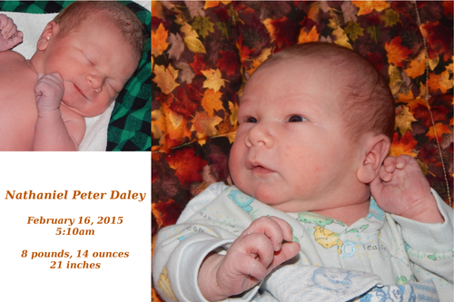 Nathaniel's birth announcement picture